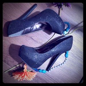 New Heels black with glitters very nice